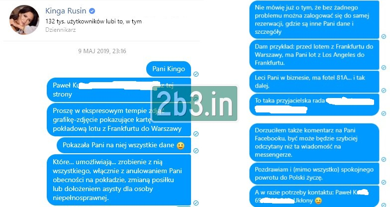 Kontakt z Kingą Rusin (c) 2b3.in